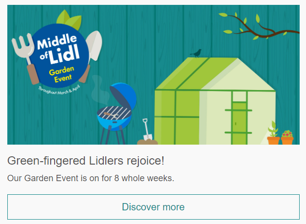 Lidl Middle of Lidl email content marketing example