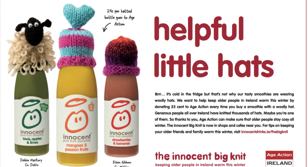 Innocent helpfil little hats play on words