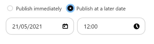 Pinterest pin publish button
