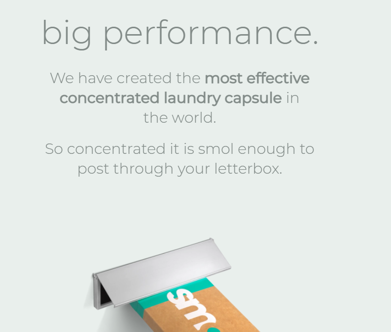 Smol homepage text